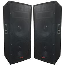 """A Pair of Dual 15"""" Speakers - 1500 Watts 3-way - Adkins Pro Audio - DJ Speakers"""