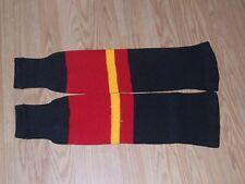 """Calgary (Away)Youth Stock PRO Poly KNIT 22""""  Knitting Ice Hockey soks"""
