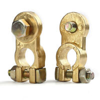 1 Pair Car Battery Brass Copper Terminal Clamp Clips Connector Negative Positive