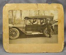 Antique Old Vintage Photograph Early Auto Automotive Transportation Car New York