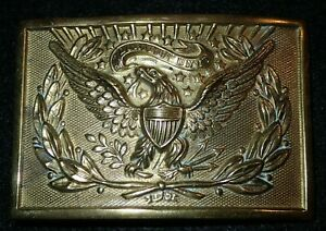 Indian Wars US Army Officers Regulation Dress Belt Buckle Late Manufacture Good+