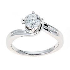 Anillos de joyería de oro blanco de 14 quilates diamante