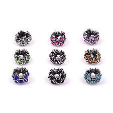 DIY European Crystal Rhinestone Spacer Beads Charm For Bracelet & Dangle Choose