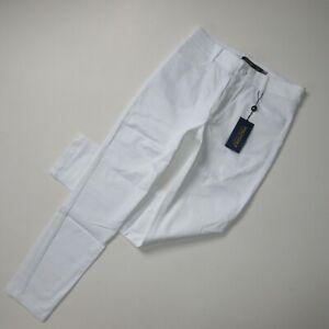 NWT Ralph Lauren Polo Golf Women's Slim Leg in White Stretch Twill Pants 4