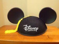 NEW Disney Institute Adult Graduation Cap Iconic Mickey Mouse Ears Tassel