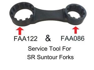 2 x SR Suntour Preload Adjuster Remover Tools FAA122 MTB + 700c FAA086