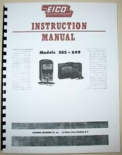 EICO 232 249 VTVM  Instruction Manual + Service Bulletin + 232 Construction Man