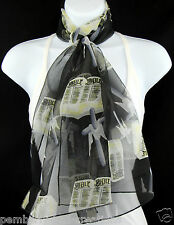Holy Bible Womens Scarf Cross Christian Religious Gift Church Black Scarves New