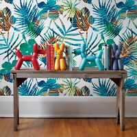 Colorful flowers removable Wallpaper palm mural Self Adhesive Peel & Stick