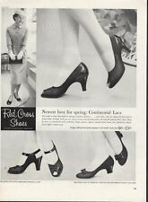 Vintage advertising print ad FASHION Red Cross Shoes Heels Coolie Pump Caress 57