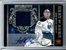 11/12 CROWN ROYALE RYAN MILLER #4 COAT OF ARMS PATCH AUTO /10 BUFFALO SABRES