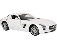 "1:24 WELLY Model Car ""Mercedes-Benz SLS AMG"" White Colour Metal Age 8+"