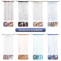 Door String Curtain Room Divider Panel Window Tassel Fringe Beads Fly Screen DS
