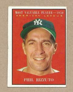 1961 Topps Phil Rizzuto MVP - 1950 #471 New York Yankees Vintage Card