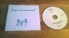 CD Pop Werle & Stankowski - Listen To .. (11 Song) Promo VIRGIN digipak