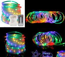 39FT RGB LED Strip Light Rope 120 Fairy Tube Outdoor Garden Christmas Decor UK