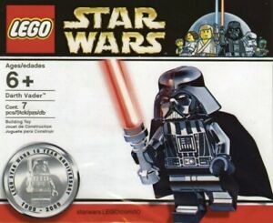 UK STOCK STAR WARS Chrome Darth Vader Custom Effect Mini Figure Brick Model