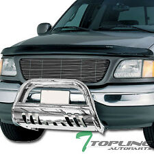 S/S CHROME BULL BAR BRUSH PUSH BUMPER GRILL GRILLE 1997+ F150/1999+ EXPEDITION