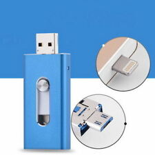 128GB Blue OTG Dual USB Memory i Flash Drive U Disk For iPhone iPad/PC/Android