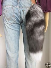 Real Fox Tail Fur Fluffy Key Chains Handbag accessories