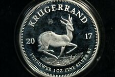 More details for south africa krugerrand 2017 .999 31g silver ounce proof box and coa (bd)
