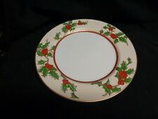 """FITZ and FLOYD 'Christmas Holly' Dinner Plates 10"""" Mint Condition"""