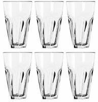 SET OF SIX (6) LIBBEY GIBRALTAR TWIST COOLER TUMBLER GLASS 16 OZ  MADE IN USA!!