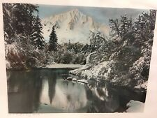 "Otto Schallerer ""Jack Frost Is King Alaska"" Hand Colored Photo Ketchikan"