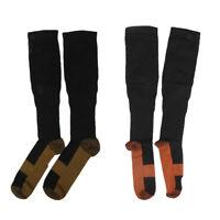 2 paires de bas de sport anti-fatigue, chaussettes de compression graduées,