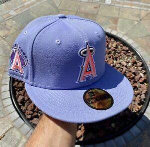 New Era Los Angeles Angels LAVENDER  7 1/8 Patch Not Hat Club Fitted Exclusive