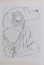 Henri Matisse Lithograph Cinquante Dessins Limited Edition Planche VII 1920