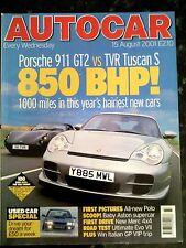 AUTOCAR MAGAZINE 15-AUG-01 - TVR Tuscan S, Porsche 911 GT2, Mitsubishi Evo Vll
