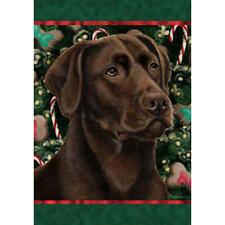 Chocolate Labrador Retriever Holiday Treats Flag