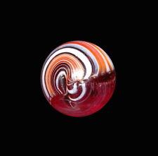 Vintage Christensen Agate Co. Two-Seam Striped Red Slag Marble