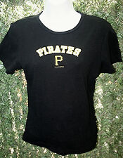 Wmn's*MLB*General Merchandise*Pittsburgh Pirates*S/S*Blk*T-Shirt*Sz. M*VGUC*NICE