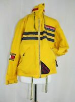 Le Coq Sportif Mens Festival Vintage 90s Style Spell Out Cagoule Jacket Yellow S