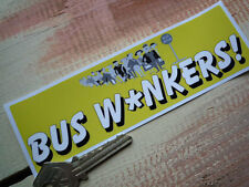 BUS WANKERS INBETWEENERS STYLE Funny Humorous car sticker