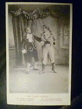 1904 Theatre Postcard- My Lady Molly:Bert Gilbert & Richard Green (+Stamp)