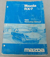 1985 Mazda RX-7 Service Workshop Manual with Wiring Diagrams