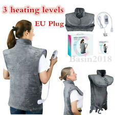 Electric Heating Pad Neck Shoulders Back Pain Relief Warm Heat Wrap Large 220V