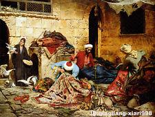 "Art portrait oil painting :Arabia family Princess 30x36"""