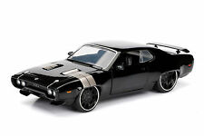 JADA 1:24 DISPLAY FAST & FURIOUS 8 DOM'S PLYMOUTH GTX DIECAST CAR 98428