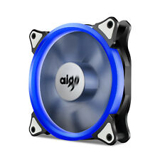 Aigo  Blue LED Ring Light 120mm PC Computer Case Cooling Clear Fan Mod