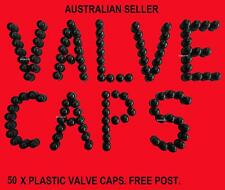 VALVE CAPS CAP PLASTIC 50 OF TUBE CORE SEAL FITT ALL STANDARD TYPE ROAD RECOVERY