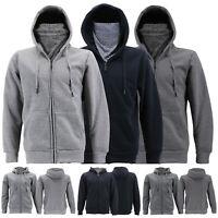 Men's Ninja Mask Hoodie Sweater Zip Up Gym Sport Activewear Fleece Lined Jacket