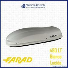 BOX AUTO PORTATUTTO DA TETTO UNIVERSALE FARAD F3 MARLIN 480 LT - BIANCO LUCIDO