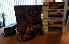 Microsoft Xbox 360 S Gears of War 3 Limited Edition 320GB 20 games free shipping