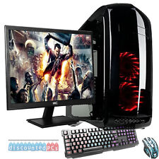 "AMD Quad Core 8GB 1TB Desktop Gaming PC Computer HD Ultra Fast WIFI 22"" Schermo"