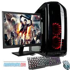 AMD Quad Core 8GB 1TB Desktop Gaming PC Computer  HD ULTRA FAST WIFI 22'' Screen