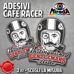 ADESIVI STICKERS CAFE RACER RIDER MOTORBIKE SERBATOIO GENTLEMANS TRIUMPH MOTO